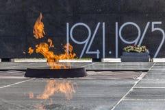 Memorial eternal flame Royalty Free Stock Image