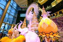 Memorial exhibitions at Siam-Paragon. Bangkok, Thailand - October 10, 2017: Memorial exhibitions at Siam-Paragon, To mark the first anniversary of King Bhumibol' Stock Photo
