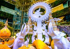 Memorial exhibitions at Siam-Paragon. Bangkok, Thailand - October 10, 2017: Memorial exhibitions at Siam-Paragon, To mark the first anniversary of King Bhumibol' Stock Photos