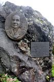 The Memorial of First Foreign Mt. Fuji Hiker Sir Rutherford Alcock located in Mt. Fuji`s Half Way to the Top. Mt. Fuji is the mos. T famous mountain in Japan stock photo