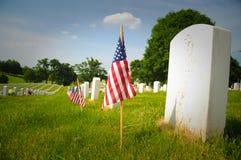 Memorial flags Stock Photo