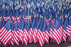 Memorial of Flags in Capital Stock Photography