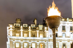 Memorial flame on Waterloo place, London Royalty Free Stock Images