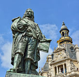 Memorial of a Flemish artist David Teniers. Memorial of a Flemish artist of 17 century David Teniers The Younger in Antwerp Stock Photos