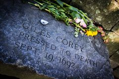 Free Memorial For Man Pressed To Death In Salem Witch Trials Stock Photos - 130257153