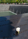 Memorial fountain to the victims of September 11, 200 royalty free stock images