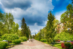 Memorial fountains for the Olympians. It is dedicated to athletes from Subotica who have won Olympic medals Royalty Free Stock Photography
