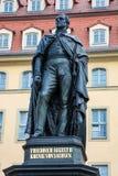 Memorial for Frederick Augustus II of Saxony stock photos