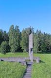 Memorial funeral bells in Khatyn Stock Photos