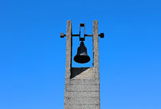 Memorial funeral bells in Khatyn Stock Images