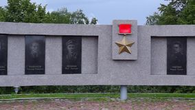 Memorial Gallery of Heroes of Soviet Union panorama stock video