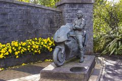 The memorial garden to the late Joey Dunlop older brother of Robert Dunlop in Ballymoney, County Antrim, Northern Ireland Royalty Free Stock Photo