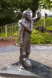 The memorial garden to the late Robert Dunlop younger brother of Joey Dunlop in Ballymoney, County Antrim, Northern Ireland. Royalty Free Stock Image