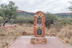 Memorial at German military graveyard in Waterberg Plateau Natio Royalty Free Stock Photos