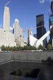 Memorial for 9-11 on ground zero in new york city Stock Photos