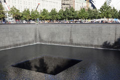 Memorial for 9-11 on ground zero in new york city Stock Images