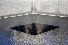 Memorial for 9-11 on ground zero in new york city Stock Photography