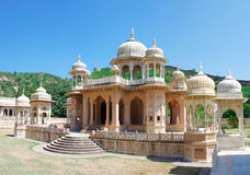 Memorial grounds to Maharaja Sawai Mansingh II and family, Jaipu Royalty Free Stock Photo