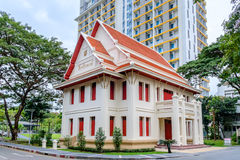 Memorial Hall of Chulalongkorn University. Bangkok - Jan. 8: Memorial Hall of Chulalongkorn University, is the oldest university under the Thai modern Royalty Free Stock Photos