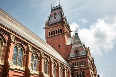 Memorial Hall at Harvard University in Boston royalty free stock photo
