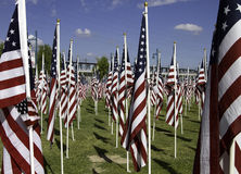 911 Memorial Healing Field American Flags Stock Photo