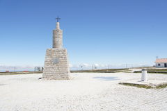 Memorial on the highest point of Portugal Torre (1993 m) Royalty Free Stock Photo