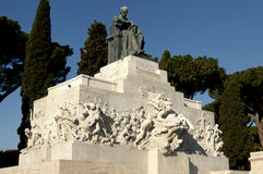 Memorial in honor of Giuseppe Mazzini Royalty Free Stock Images