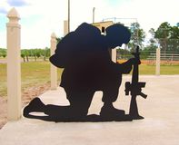 Memorial Honoring our  Military Stock Photo