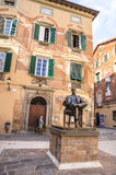 Memorial House of Giacomo Puccini popular attraction in Lucca ,Italy. Royalty Free Stock Photos