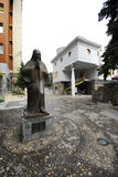 The memorial house of Mother Teresa in Skopje stock photos
