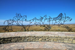 Memorial indiano no monumento nacional do campo de batalha do Little Bighorn, fotografia de stock royalty free