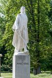 Memorial of Janko Kral. Statue of Janko Kral in Bratislava Royalty Free Stock Images