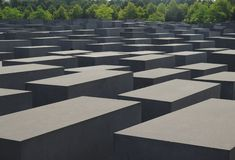Memorial of Jewish victims of Nazism. In Berlin in Germany Stock Images