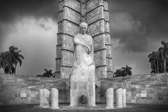 Memorial a Jose Marti, Havanna. Memorial a Jose Marti, dark clouds, Havanna royalty free stock photos