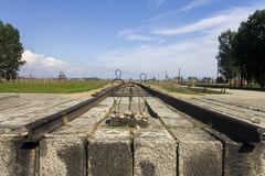 Memorial for killed people in Auschwitz II-Birkenau Stock Photo