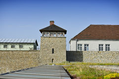 Memorial KZ Mauthausen. Memorial, camp with front view in austria stock photo