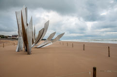 Memorial for the landing in Omaha Beach Stock Photography