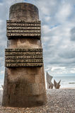 Memorial for the landing in Omaha Beach Royalty Free Stock Photos