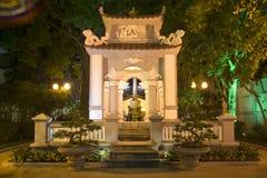Memorial Le Loi in night illumination. Hanoi, Vietnam Royalty Free Stock Image