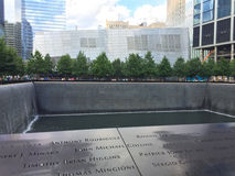 911 Memorial. The 911 Memorial located in Manhattan, NYC at the location of the Twin Towers Royalty Free Stock Photography