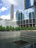 911 Memorial. The 911 Memorial located in Manhattan, NYC at the location of the Twin Towers Royalty Free Stock Photos
