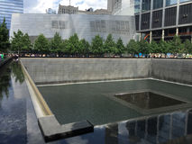 911 Memorial. The 911 Memorial located in Manhattan, NYC at the location of the Twin Towers Royalty Free Stock Images