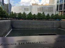 911 Memorial. The 911 Memorial located in Manhattan, NYC at the location of the Twin Towers Royalty Free Stock Image