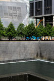 911 Memorial. The 911 Memorial located in Manhattan, NYC at the location of the Twin Towers Stock Images