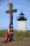 Memorial at Long Point Lighthouse Royalty Free Stock Photos