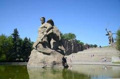 Memorial Mamayev Kurgan in the city of Volgograd Stock Photos