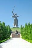 Memorial Mamayev Mamaev kurgan. Royalty Free Stock Photo