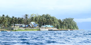 Memorial on Mansinam island Stock Image