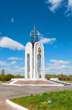 Memorial in Meat Bor. Monument-chapel on the site of a war grave from World War II in the village Meat Bor near Novgorod Royalty Free Stock Image