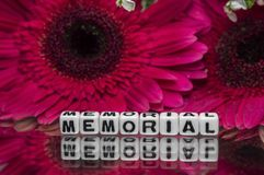 Memorial message with small text Stock Image